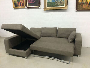 All in one--sectional Sofa/Sofa Bed with storage -$788(brand new