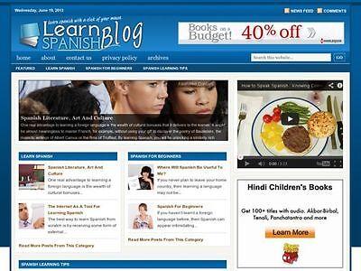 Learn To Speak Spanish Wordpress Blog Website For Sale