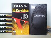 6 x unused Sony E180 High Res Video Tapes + Professional Cleaning System