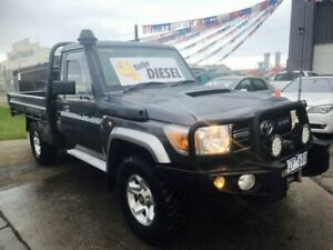 2012 Toyota Landcruiser VDJ79R 09 Upgrade GXL (4x4) Charcoal Grey 5 Speed Manual Cab Chassis