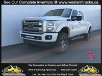 2014 Ford F350 Lariat Platinum Diesel~Lifted~Reduced $379 B/W