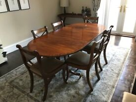 Regency Dining Table and Chairs