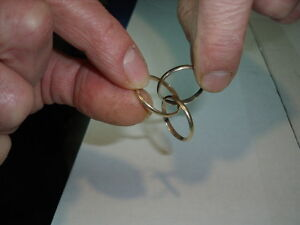 14K Men's Tricolour Gold Rolling Wedding Band Kawartha Lakes Peterborough Area image 6