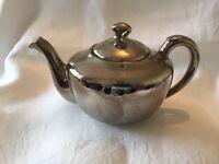 Silver coloured china Teapot