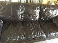 Large Real Leather sofa for sale £70