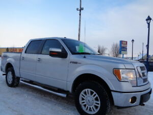 2010 FORD F-150 LARIAT-4X4 LEATHER-SUNROOF-ONE OWNER TRUCK-CLEAN