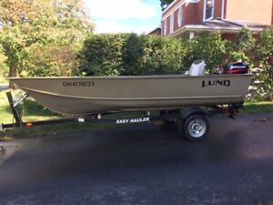 LUND WC-14 with Mercury 25 2S (Electric) & Easy Hauler For Sale