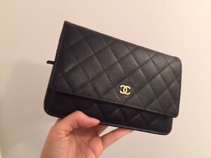 Chanel WOC wallet on chain with gold hardwear