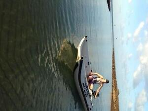 TAKACAT Lite INFLATABLE twin hull DINGHY & 5HP YAMAHA OUTBOARD Point Vernon Fraser Coast Preview