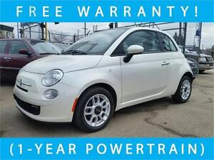 2012 FIAT 500 Pop -- FREE 1-YEAR WARRANTY! --