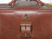 vintage soft-sided suitcase