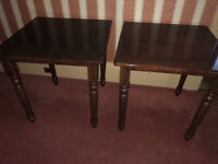 A pair of Card, or Breakfast tables - solid wood (Delivery available)