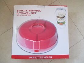 PARTY TRAVELER 6-PIECE SERVING SET Christmas parties?