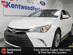 2017 Toyota Camry LE FWD in a dashing and delightful white