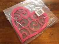 Heart Shaped Pink Hanger