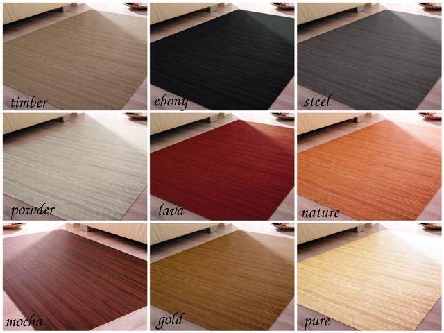 Tappeto di bambù MASSIVE in 9 Colori e 20 Misure Soggiorno da cucina