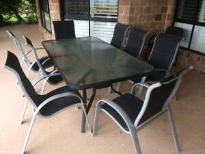 OUT DOOR 8 SEATER TABLE AND CHAIRS Bundall Gold Coast City Preview