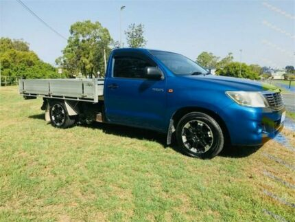 2012 Toyota Hilux TGN16R MY12 Workmate Blue 5 Speed Manual Cab Chassis Southport Gold Coast City Preview