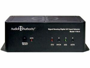 AUDIO AUTHORITY A/V INPUT SELECTOR 1154A , USED