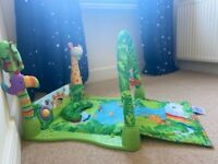 From birth Fisher Price rainforest 1-2-3 baby musical play mat - bought new, only used for 1 child
