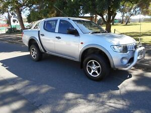 2006 Mitsubishi Triton MK MY06 GLX Double Cab Silver 5 Speed Manual Utility Somerton Park Holdfast Bay Preview