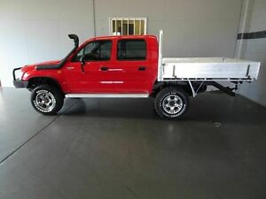 1998 Toyota Hilux LN167R (4x4) Red 5 Speed Manual 4x4 Dual Cab Pick-up Woodridge Logan Area Preview