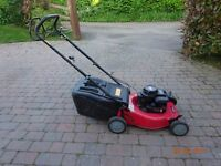Lawn Mower -Self propelling. Petrol. Adjustable cut height and grass collector