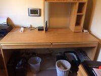 IKEA Anton home office desk with two drawers