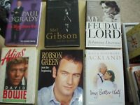 13 Great Books - Mainly Biographies plus a few fiction by famous people, all hardback except 1