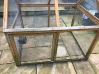 Guinea pig/Rabbit indoor cage and outside run and accessories