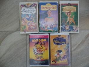 cassettes de film VHS vidéo