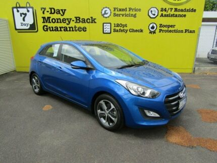 2015 Hyundai i30 GD4 Series II MY16 Active X Marina Blue 6 Speed Sports Automatic Hatchback Invermay Launceston Area Preview