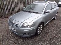 TOYOTA AVENSIS TR 2.2 D4D 2008 5 DOOR ESTATE SILVER 123,000 MILES FULL SERVICE HISTORY MOT 6/08/17