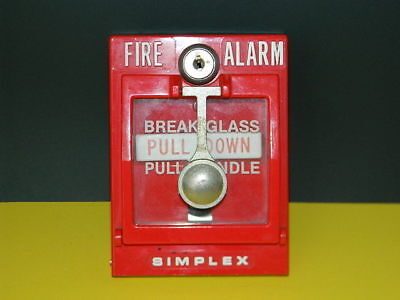 Simplex 4251-30 Double Break Glass Fire Alarm Pull Station