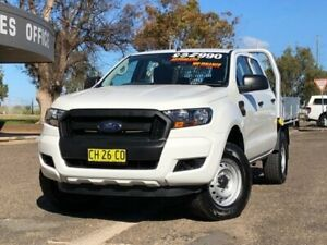 2016 Ford Ranger PX MkII XL Double Cab White 6 Speed Sports Automatic Cab Chassis Hillvue Tamworth City Preview
