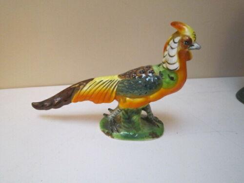 Vintage Ceramic Golden Pheasant Figurine