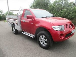 2007 Mitsubishi Triton ML GL Red 5 Speed Manual Cab Chassis Hoppers Crossing Wyndham Area Preview
