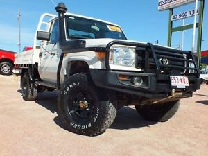 2010 Toyota Landcruiser VDJ79R MY10 Workmate White 5 Speed Manual Cab Chassis Rosslea Townsville City Preview