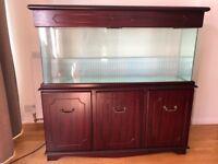 4' Aquarium in Quality Solid Wood Mahogany-effect Cabinet £300