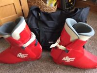 Nordica N600 Mens Red Ski Boots 330mm - Used But In Good Condition