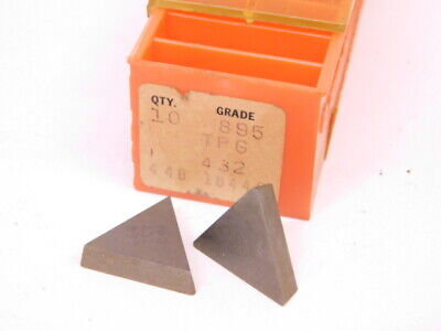 New Surplus 10pcs. Carboloy Tpg 432 Grade 895 Carbide Inserts