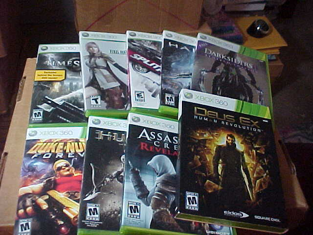 Lot Of 9 Xbox 360 Games Duke Nuken Assassins Darksiders Very Good 1 - $20.00