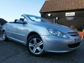 0505 PEUGEOT 307 CC 2.0 16v CONVERTIBLE 1 OWNER FROM NEW A GENUINE 40K SH SUPERB