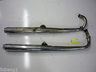 YAMAHA 70 71 72 R5 R 5 350 TWO STROKE COMPLETE EXHAUST SYSTEM MUFFLER PIPE OEM