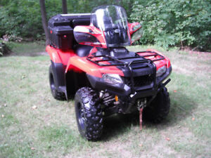 2016 HONDA TRX 420 4X4 * LIKE NEW ** ONLY 290 KMS ** EXTRAS **