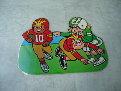 Back To School Bulletin Boards (Back to School Playing Football Die Cut Single Sided Wall Bulletin Board)