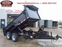 MOST VERSATILE DUMP - 6 X 12 5 TON WITH COMBO RAMP GATE/BARNS