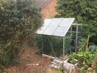 greenhouse 6ft x 4ft free - buyer collects and dismantles ( 3-4 glass glass pains missing)