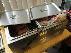 HOT DOG STEAMER/BUN WARMER COMBO - FREE SHIPPING