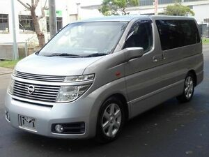2003 Nissan Elgrand E51 4WD HWS Silver 5 Speed Tiptronic Wagon Taren Point Sutherland Area Preview
